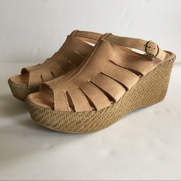 857d1730a88c Sundance Catalog Suede Cutout Wedge Sandals Suede.  M 5aaf207905f430827f9e158f
